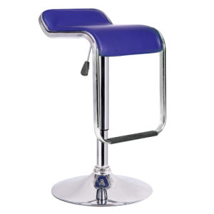 PVC Bar Stool with Metal Base Zs-302 pictures & photos