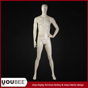 Full Body Male Manikin in Color Cream for Window Display