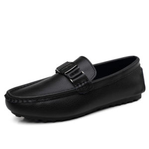 Leather Shoes Casual Classic Fashion Slip on Footwear for Men (AK1386) pictures & photos