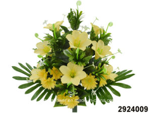 Artificial/Plastic/Silk Flower Lily/Daisy Mixed Bush (2924009)