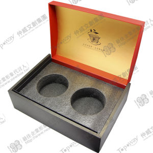 Black Liner Foam Packaging Gift Box With Lid Base Style