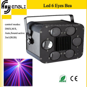 9W RGB 3in1 LED 6eyes Beam Light for Stage (HL-058)