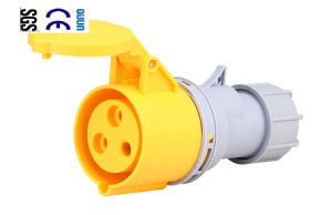 Industrial Socket (QJ-N013-4) of IP44 16A 2p+E Plastic PA