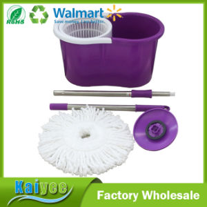 Wholesale Purple Floor Cleaning Spin Mop with Mop Parts pictures & photos