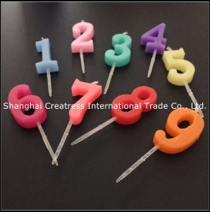 Bright Luster Different Colors Number Birthday Candles Suppliers For Sale