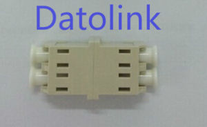 Beige LC mm Duplex Fiber Optical Adapter pictures & photos
