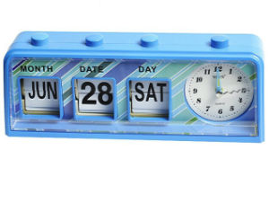 2017 Newest Nice Novelty Calendar Alarm Desk Clock pictures & photos