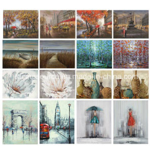 Flower Canvas Printing Home Deco Hand Oil Painting Canvas pictures & photos