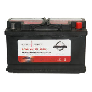 AGM-L4 12V 80ah High Performance AGM Start-Stop Battery pictures & photos