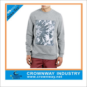 Light Gray Mens Latest Design Pullover Sweatshirt Without Hood pictures & photos