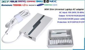 90W Slim Universal Laptop Adapter