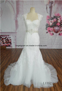 Sweetheart Bridal Dresses Beading Tulle Beach Wedding Gowns OEM Service pictures & photos
