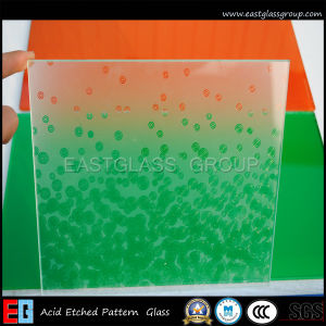 Frosted Art Patterned Glass /Acid Etched Shower Glass (AD51)