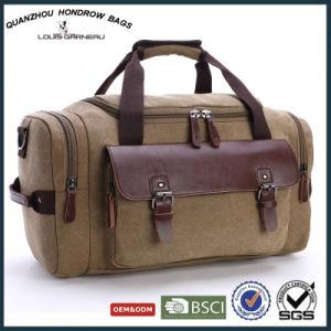 c5a8744fb597 China Vintage Leisure Men Leather Canvas Duffle Travel Bag Sh ...