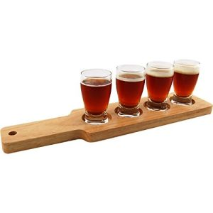 Wood Beer Tray with 4 Sampler Glasses pictures & photos