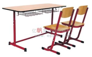 High Quality School Double Desk and Chair Furniture for Students pictures & photos