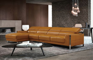 Modern Customized Hotel Lobby Furniture Leather Sofa Set (L078)