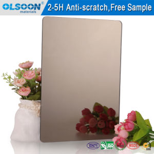 Olsoon Silver Acrylic Mirror PMMA Mirror Makeup Mirror Wall Decorative Mirror pictures & photos