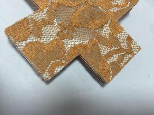 d51eef4b615 China Black Cross Satin Fabric Nipple Cover for Bikini - China ...