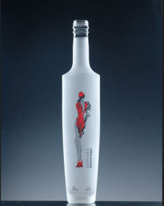 Acid Etch Vodka Glass Bottles