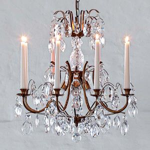 China Crystal Chandelier Candelabra Lamp With Glass Drop Empire - Chandelier drop crystals