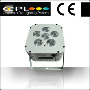 6X12W RGBWA Special Effect 2014 Popular Battery Powered LED PAR Can Light