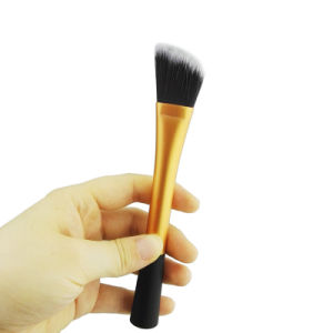 Wholesale 1 PCS Golden Angled Foundation Makeup Brush Cosmetic Make up Brushes Tools