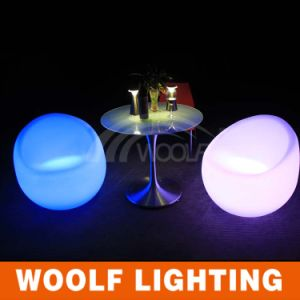 LED Glowing Home Bedroom Round Plastic PE Sofa Chair