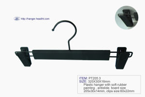 Practical Plastic Hanger with Rubber Painting, Antislip Plastic Hanger pictures & photos
