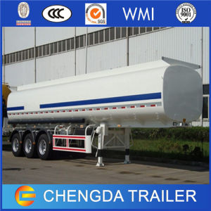 3axles Stainless Steel Oil Fuel Tank Trailer for Sale (42cbm) pictures & photos
