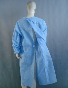 Disposable PP/PE/PP+PE/CPE/SMS Non-Woven Standard Surgeon Gown pictures & photos