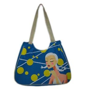 Promotional Ladies Canvas Shopping Travel Beach Bag