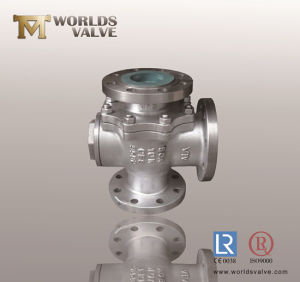 3 Way CF8m JIS10k Ball Valve