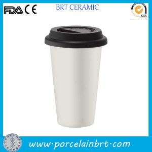 Ceramic Double Wall Mug with Silicone Lid