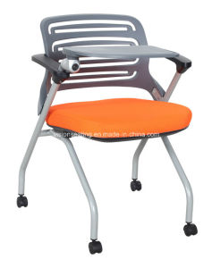 Conference Meeting Room Chair with Wheels and Writing Tablet (6203)