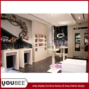 Fashion Jewelry Shop Interior Design with Elegant Display Showcases