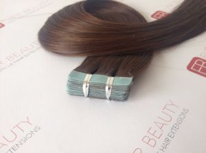 Tape in Human Hair Extensions Flat Tape 100% Human Hair pictures & photos