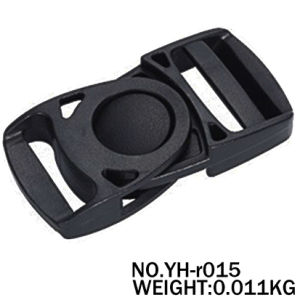 Black Adjustable Plastic Buckle for Webbing Belts