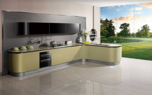 Lacquer High Gloss in 2 Pack Kitchen Cabinets (zz-023)
