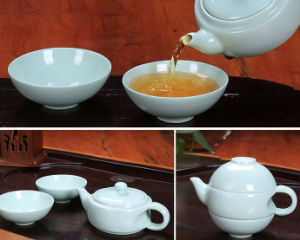 Shell Cowry Porcelain Kungfu Tea Cup Set for Wholesaler pictures & photos