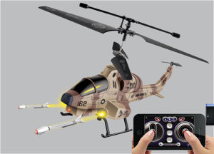 RC Toys: for iPhone Control (Missile Shooting Cobra Military) Helicopter (with Gyro, U809)