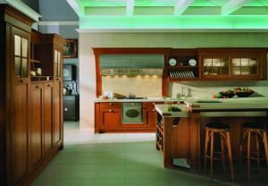 High Quality Solid Wood Kitchen Cabinet (KC13402)