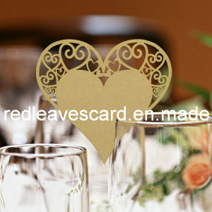 Red Leaves Laser Cutting Wedding Place Card Yellow (Color Can Be Customized)