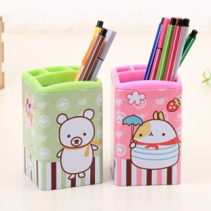 Square Pen Holder Metal Tin pictures & photos