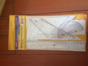 4PCS Ruler Set with Protractor