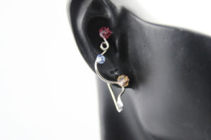 Handmade with Crytal Silver Copper Ear Bone Clip (NJJEC_0004)