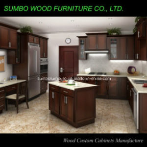 Shaker Style Solid Wood Kitchen Cabinet (SBK-014)