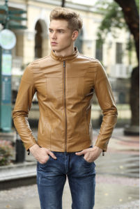 New Good Selling Fashion and Good Quality PU Men Jacket