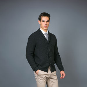 Men′s Fully-Fashioned Blended Cardigan