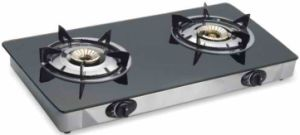 Double Burner Glass Stove